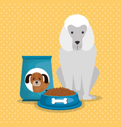 Cute dogs with food vector