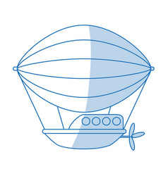 Dirigible icon design vector