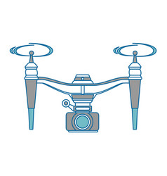 drone flying technology with camera vector image vector image
