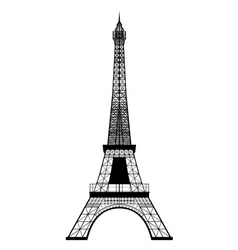 eiffel tower silhouette vector image vector image