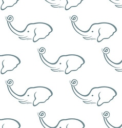Elephant head seamless pattern vector image vector image