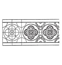 Enamel ornament rosette band is designed on a vector