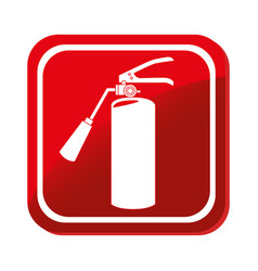 extinguisher fire sign icon vector image