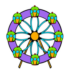 Ferris wheel icon icon cartoon vector
