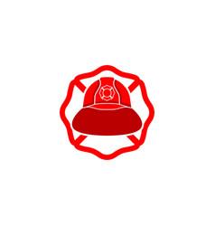 Firefighter helmet logo vector