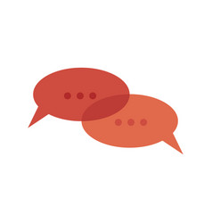 flat chat message bubble icon vector image