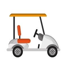 Golf car icon vector image