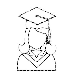 graduated woman icon vector image vector image