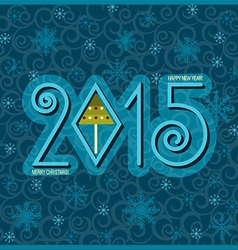 Happy new year card blue vector image vector image