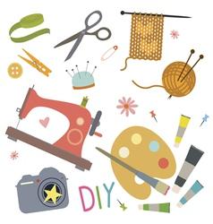 Hobby tools set vector