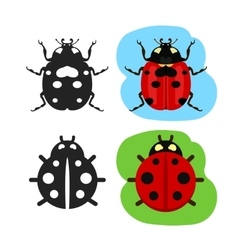 Ladybug flat color icon vector image