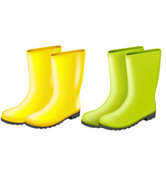 Rainboots set vector
