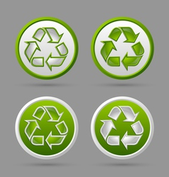 Recycle symbol badges vector image