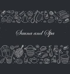 sauna hand drawn vector image
