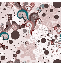 seamless background with swirls vector image