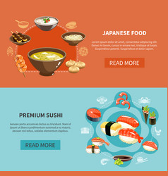 Sushi flyer set vector