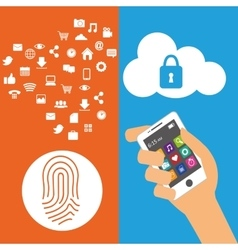 Wearable technology security cloud information vector