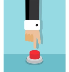 Symbolic red button vector