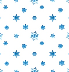Snowflake gradient blue white background vector