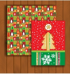 Elegant christmas card with an envelope vector