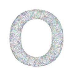 Colorful sketch font design - letter O vector image