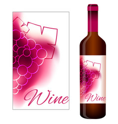 Label for red wine vector