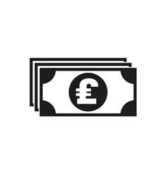money icon pound sterling and cash coin vector image
