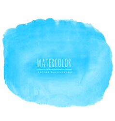 Blue watercolor texture stain background vector