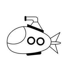 Cartoon submarine icon image vector
