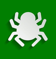 Spider sign paper whitish vector