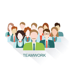 business people group in flat style vector image