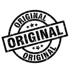 Original round grunge black stamp vector
