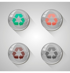 Detailed glossy arrow buttons with long shadow vector image