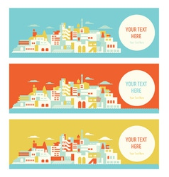 Asian sunny city vector