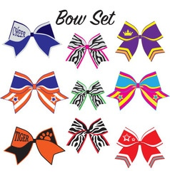 Cheerleading bow set vector image