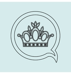 Crown isolated design vector