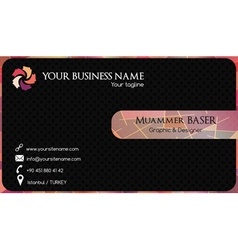 Abstract colorful business card vector image vector image