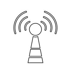antenna communication technology vector image vector image