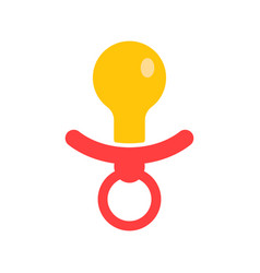 Baby pacifier icon child toy nipple vector