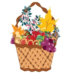 Basket of Vegetables2 vector image vector image