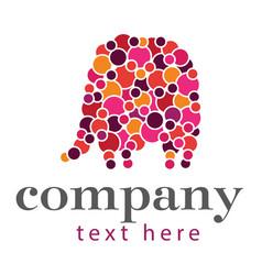 circles elephant logo vector image