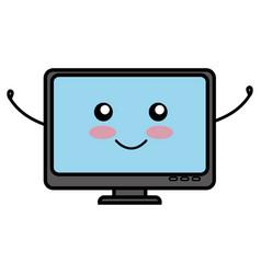 Computer desktop comic character vector