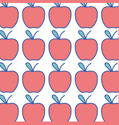 Delicious apple fruit witn vitamin and nutrition vector
