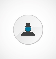 Detective icon 2 colored vector