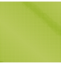 Dots on a green background pop art background vector