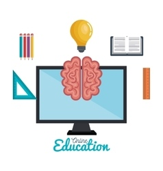 Education online science mind icons study distance vector