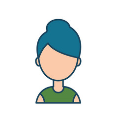 female character social network flat isolated vector image