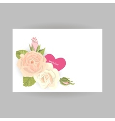 Floral vintage card with heart vector