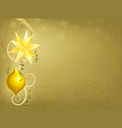 gold christmas ornament background vector image vector image