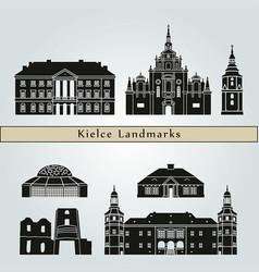 kielce landmarks vector image